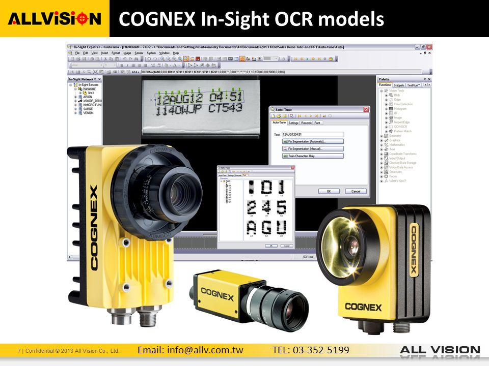 COGNEX In-Sight OCR models